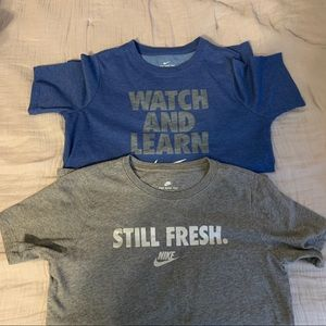 Excellent condition-2 boys Sz Lg Nike Shirts